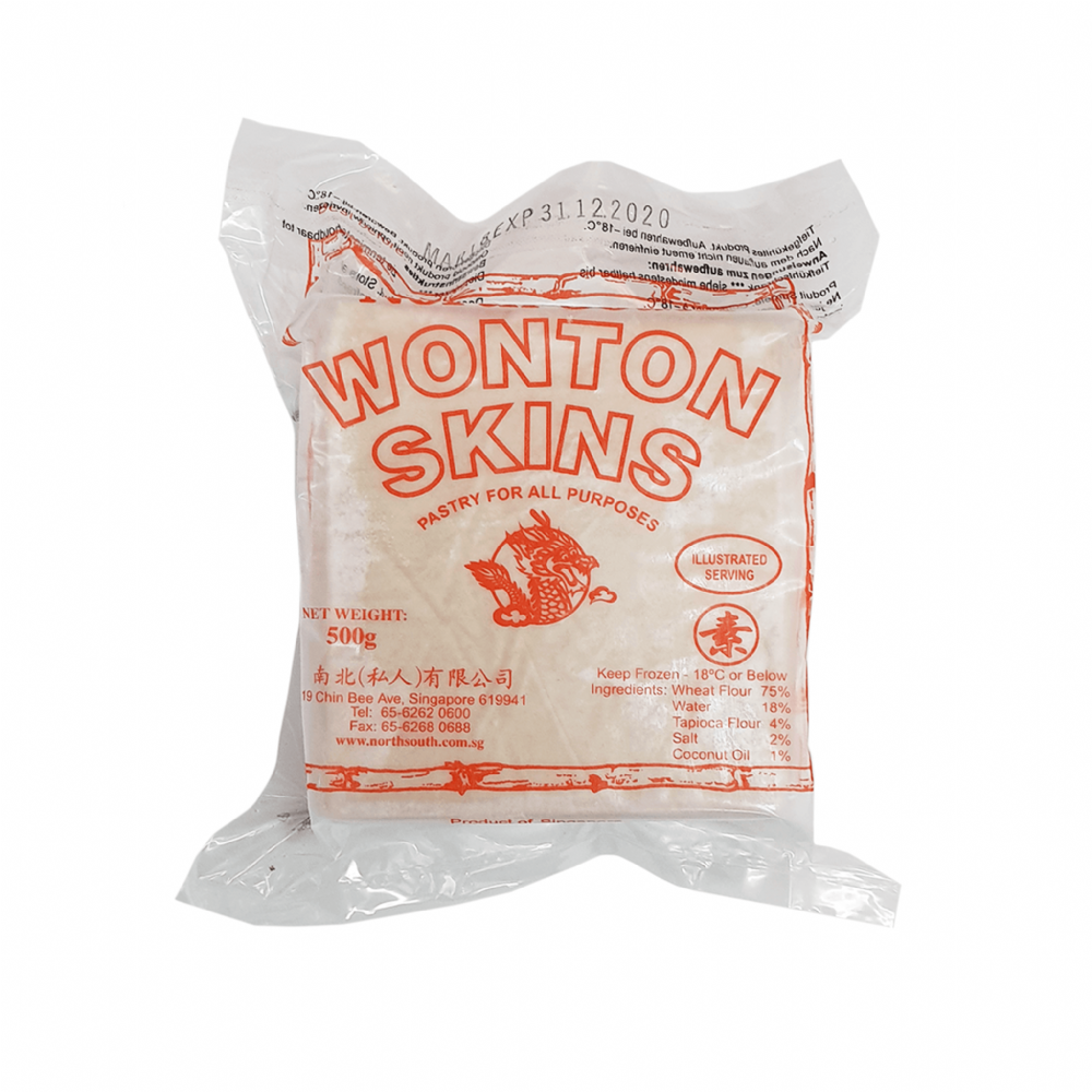 North South Wonton Skins Red 500g